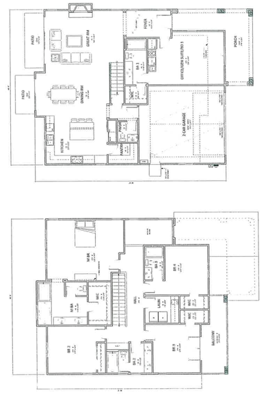 two story floorplan - La Mesa Summit Estates