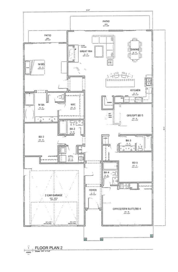 Single Story 2 Floorplan - La Mesa Summit Estates