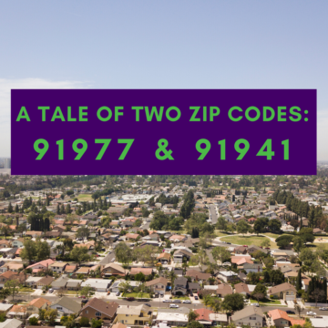 a tale of two zip codes 91977 vs 91941