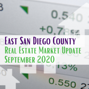 East San Diego County Real Estate Market Update September 2020